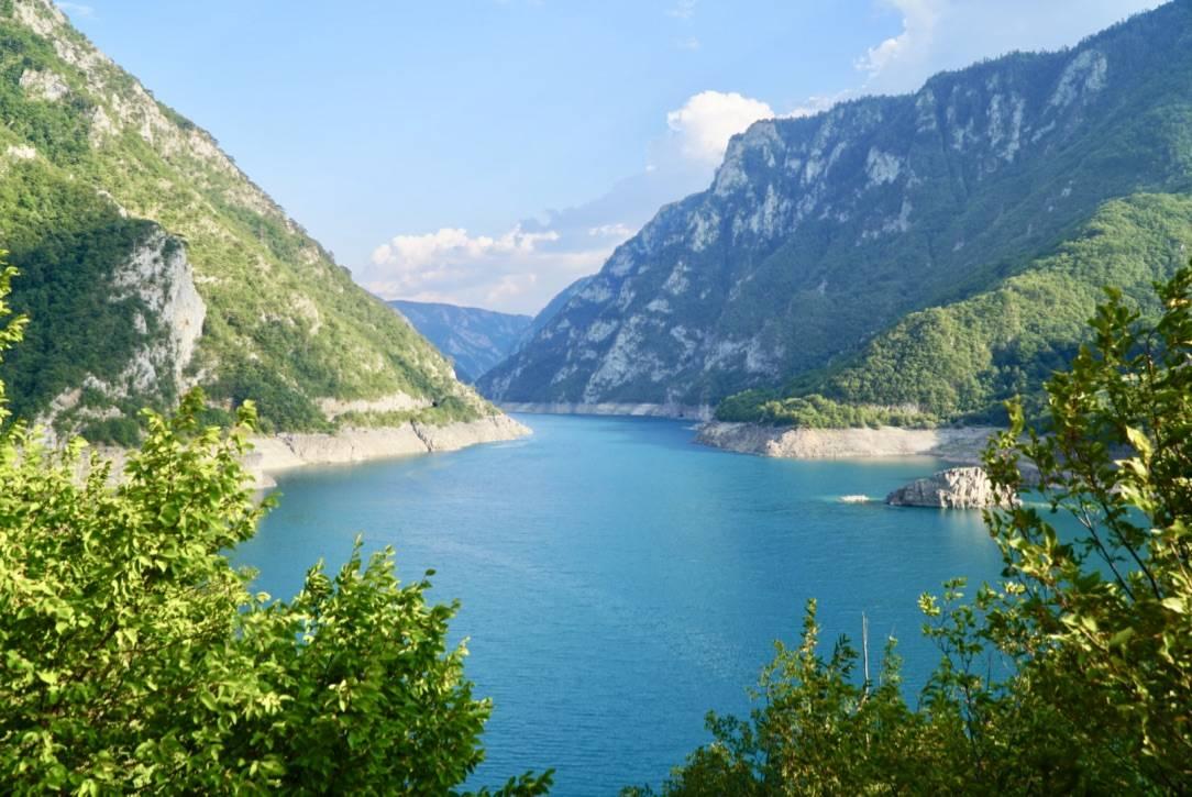 Reservoir Near Martinje Via Dinarica Trail Itinerary