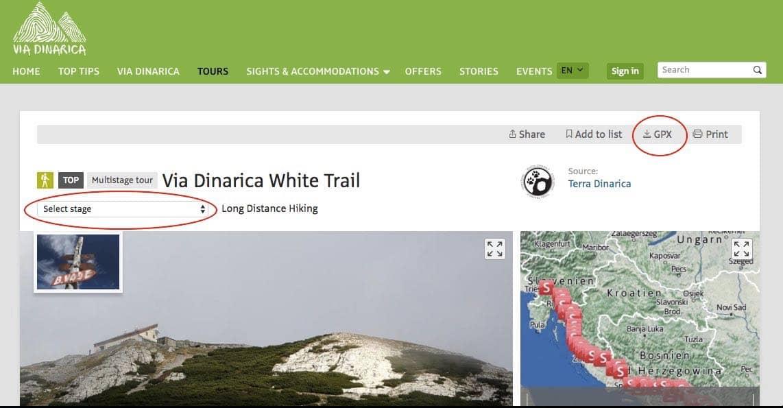Via Dinarica Trail Website Via Dinarica Trail Guide