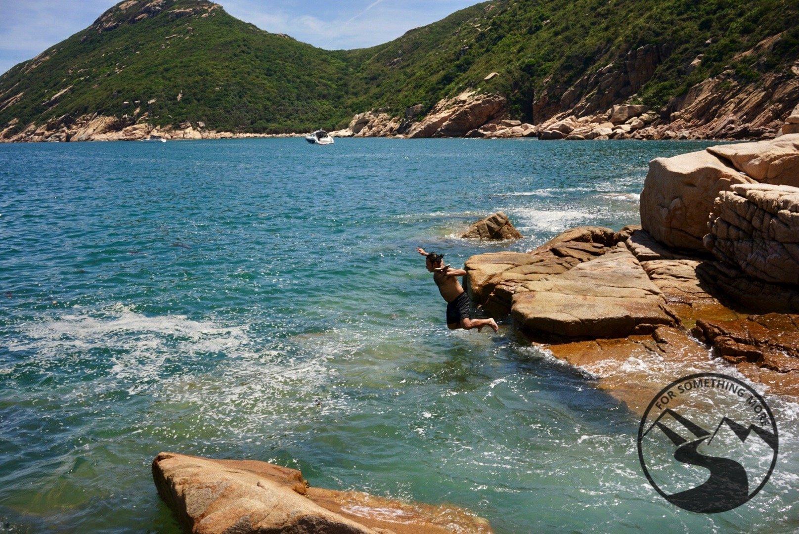 hike Lamma Island and go swimming