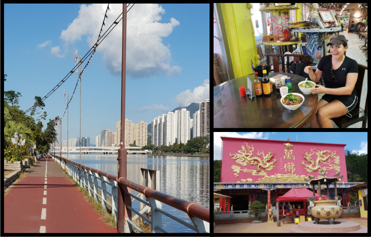 Cycling in Shatin in the New Territories