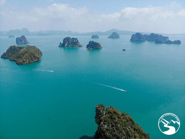 The view from atop Koh Nok Island