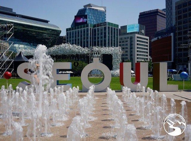 A fountain in Seoul