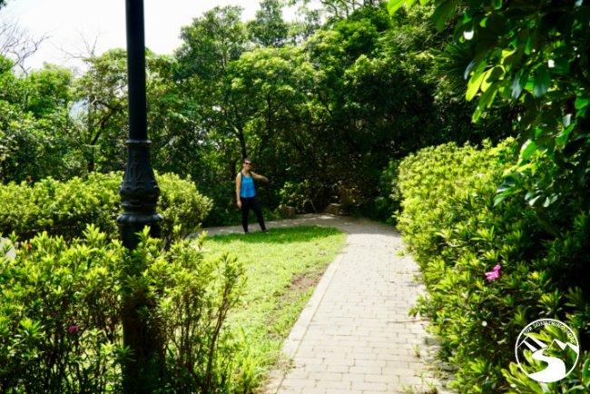 Walk straight through the park to the Treacherous Trail