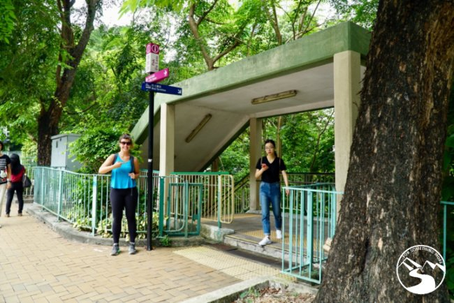 Use the subway to get under Pok Fu Lam Road while hiking in Kennedy Town up High West