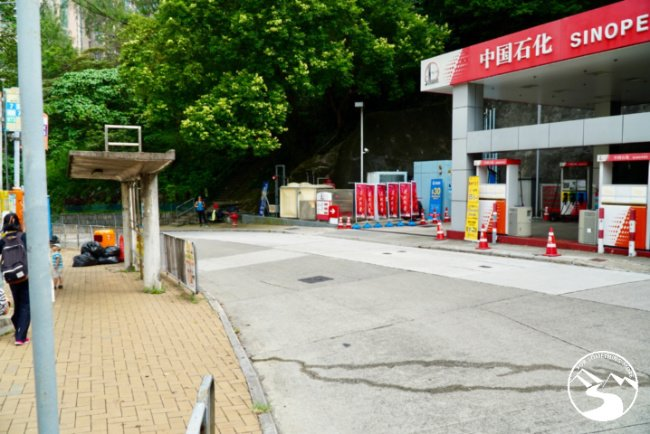 You will pass this Sinopec Gas Station while hiking in Kennedy Town up High West
