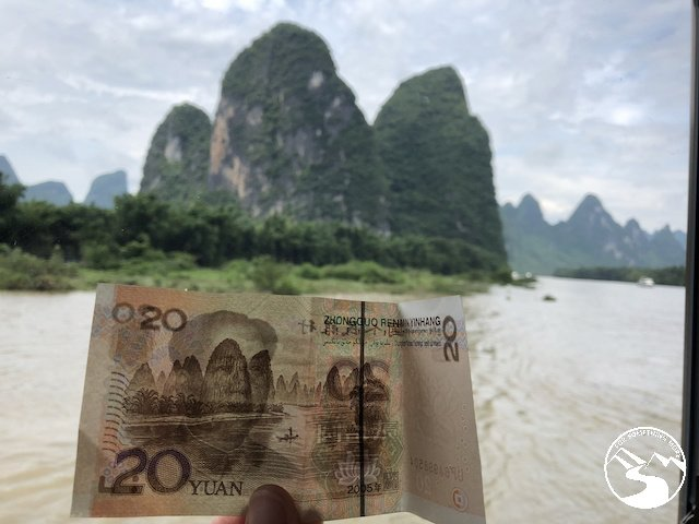 The place along the Li River from which the Chinese 20 Yuan bill was inspired.
