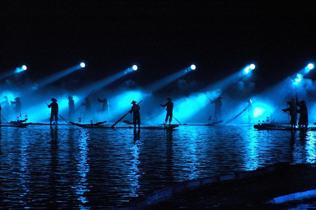 A scene from The Yangshuo Night Light Show