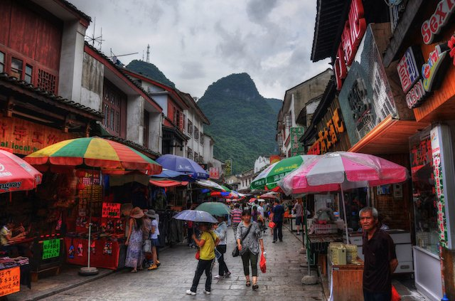 Yangshuo's touristy yet exciting West Street