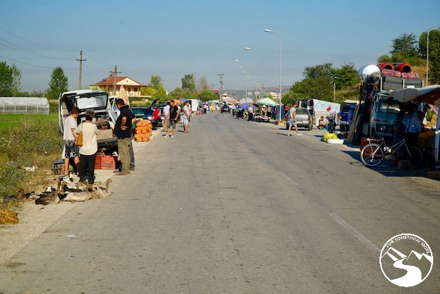 A roadside market we found on our road trip in Albania