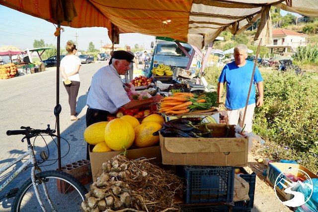 At the Albanian roadside market they sold many things