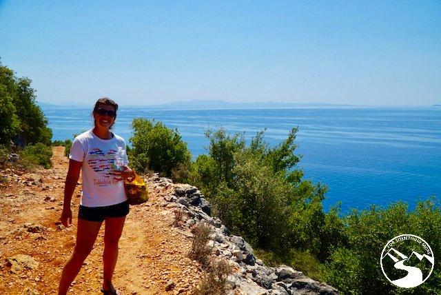 Walking down this dirt road to Gjipe Beach in Albania