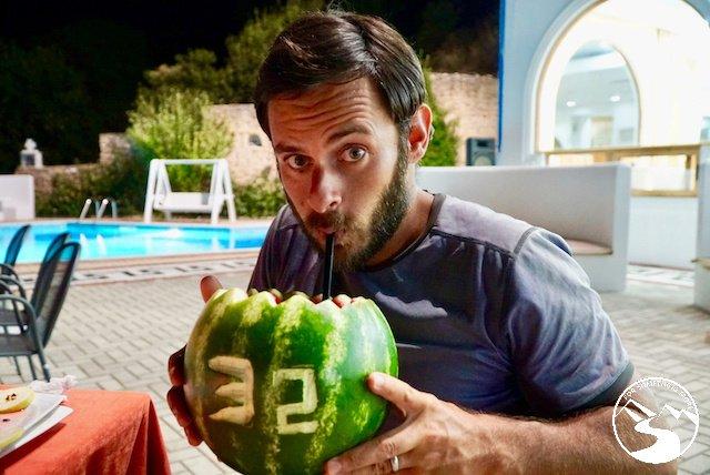 A big watermelon drink