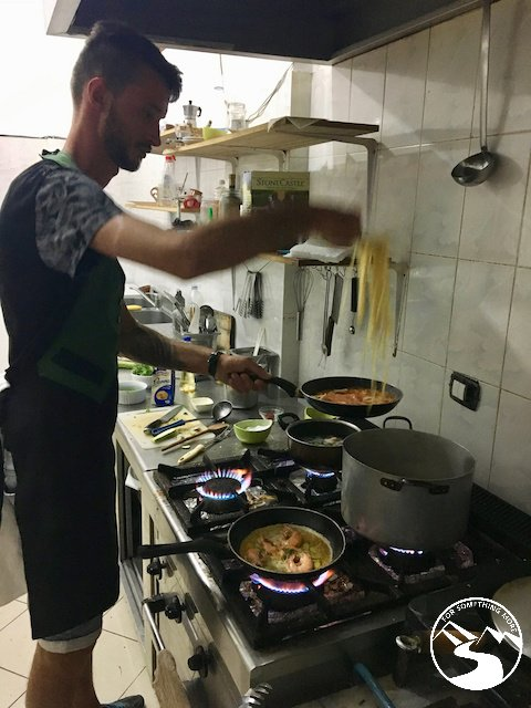 At Hotel Palace Lukova in Albania the food was cooked fresh nightly