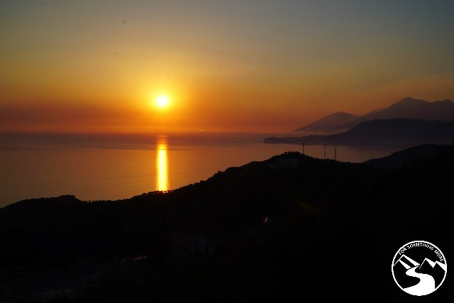 A sunset over the Adriatic Sea