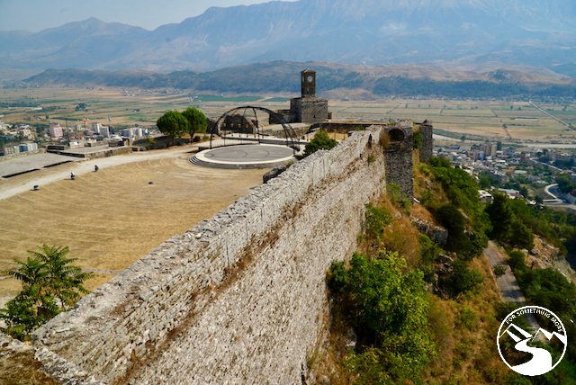 Gjirokaster Castle was spectacular on our road trip in Albania