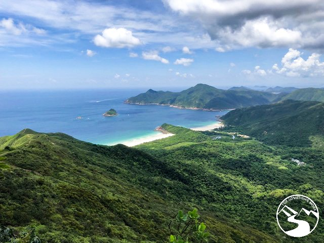When you hike Sharp Peak in Sai Kung Hong Kong you will see oceans and mountains
