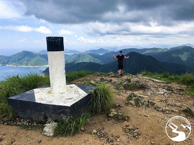 This marks the summit of Sharp Peak in Sai Kung Hong Kong