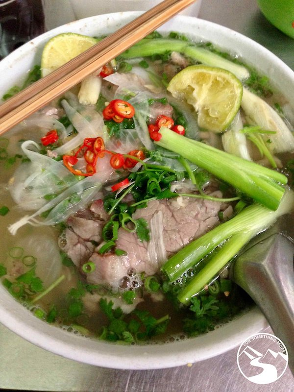 Pho Bo is a rich beef soup is part of the best street food in Hanoi
