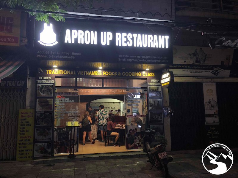 The Apron Up Restaurant in Hanoi offers cooking classes and food