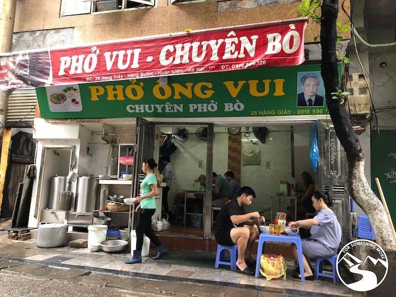 Pho Vui is a great place to get Pho in Hanoi