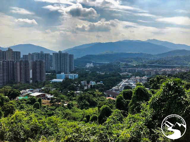 Looking down on Tai Po when you hike Cloudy Hill
