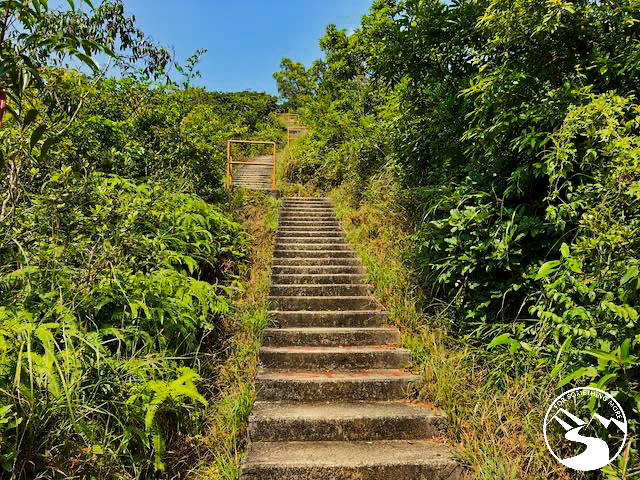 many stairs on Cloudy Hill