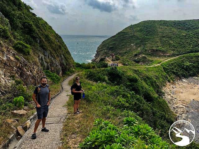 a paved hiking trail