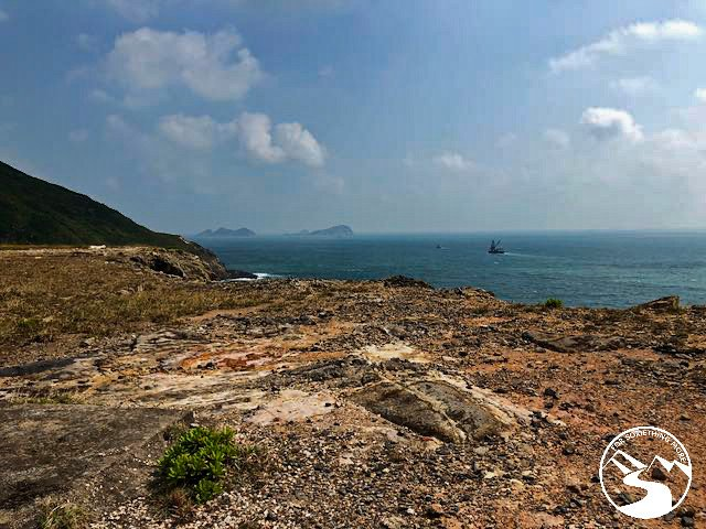 a view of the ocean from Tung Lung Island