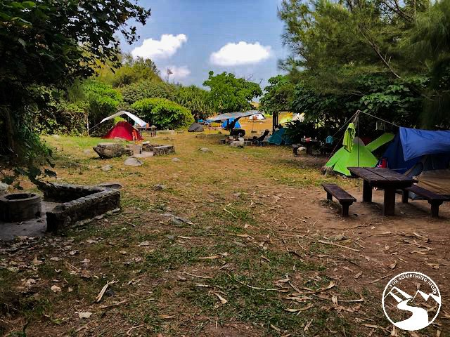 A few tents are set up in Tung Lung Island's campsite