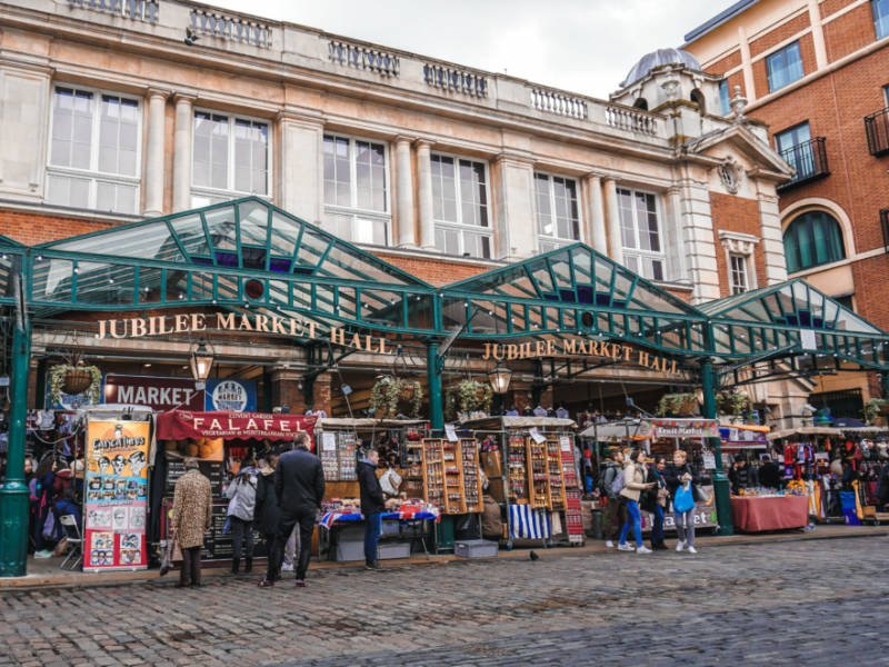 Covent Garden on a 12 hour itinerary for London