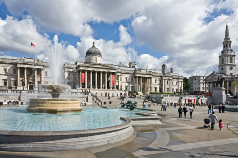 Trafalgar Square on a 12 hour itinerary for London