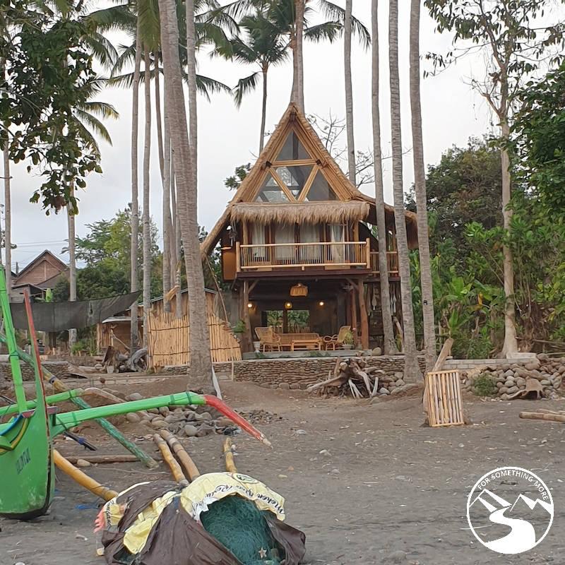 Beach side hut in Medewi, Bali, Indonesia