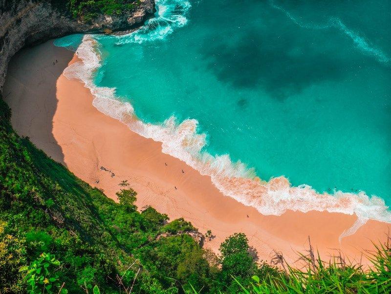 A remote beach Bali off the beaten track