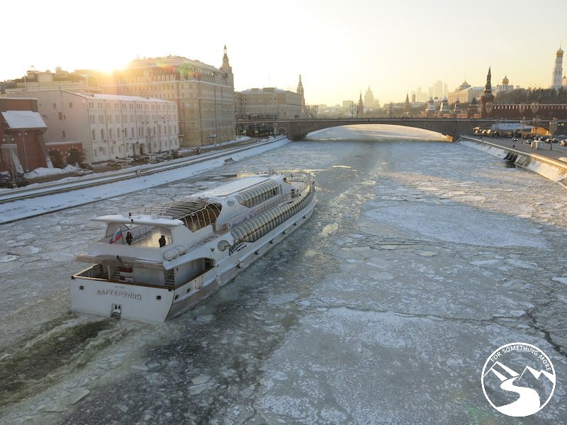 Cruise on the Moskvar River when you travel to Moscow with kids