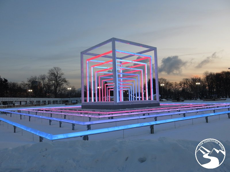 """Brings a whole new meaning to the phrase """"disco lights"""" while traveling to Moscow with kids"""