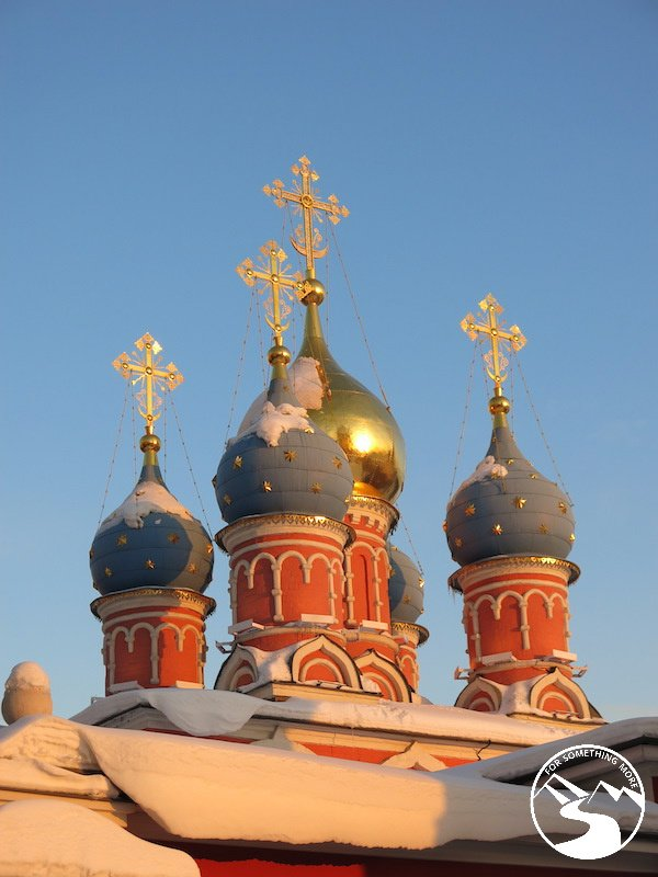 Travel to Moscow with Kids and view the Colorful toppings on the buildings of Kitai Gorod
