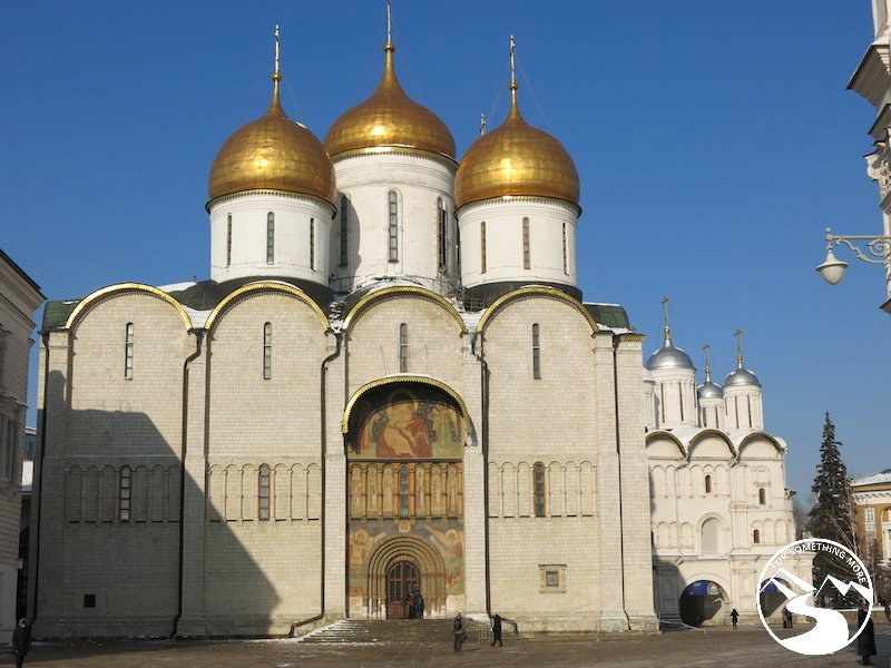 The Golden cathedrals inside the Kremlin in Moscow