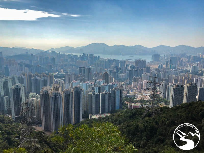 view of Kowloon on the way up Lion Rock