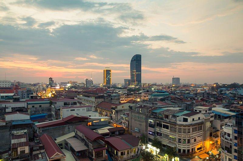 Phnom Penh City in Cambodia
