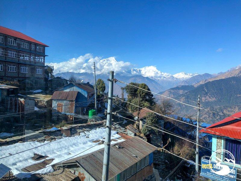 view of the Annapurna range from Ghorepani