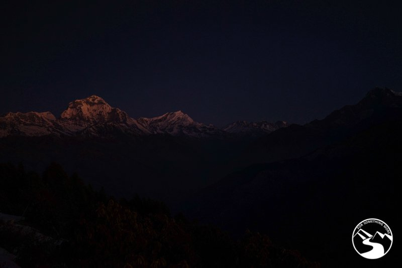 pre-sunrise photo of Annapurna Range
