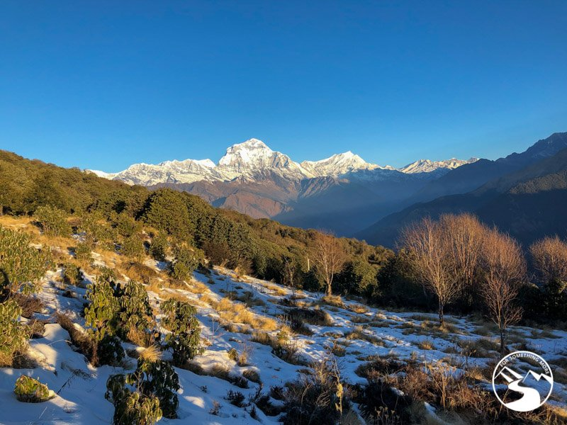 mid morning view of the Annapurna Range