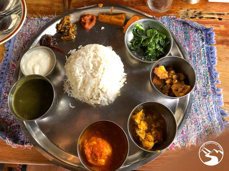 Eating at the Thakali Kitchen is one of the things to do in Pokhara