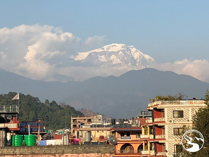 A view of the Annapurna Range from Pokhara
