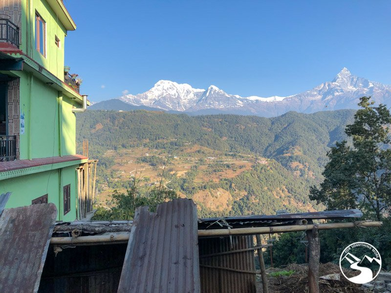 view of the Himalayas on the way to our Ghorepani Poon Hill Trek