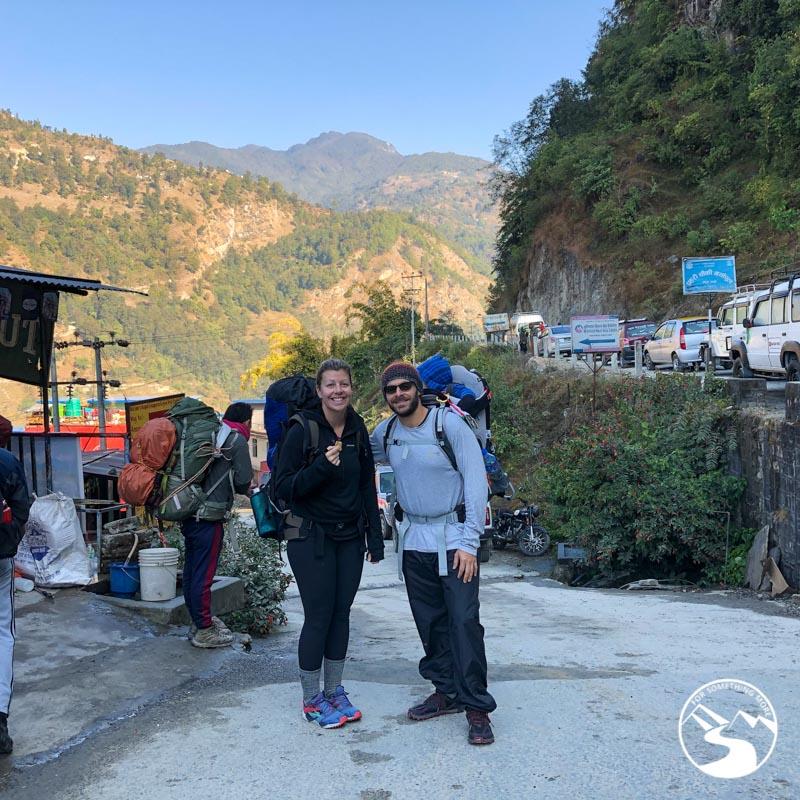 starting to trek to Ghorepani Poon Hill