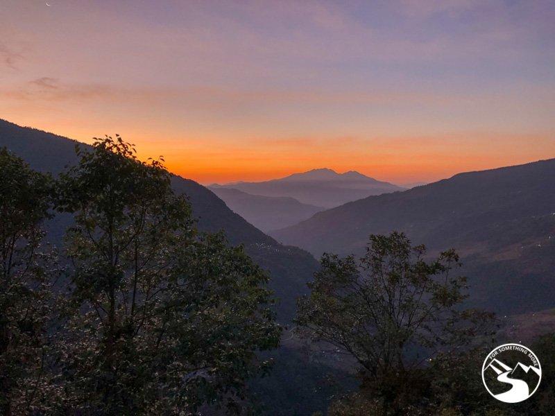 a sunset in Ulleri