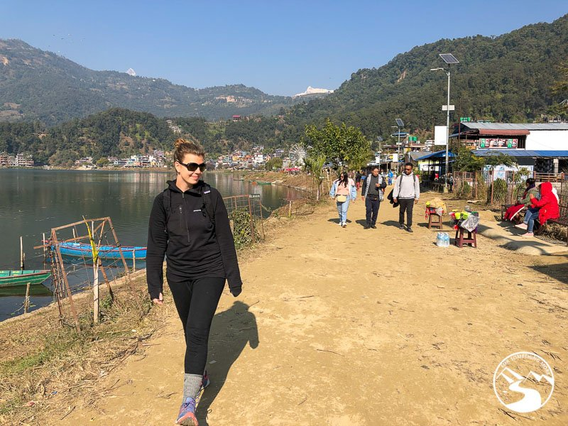 Walking around Phewa Lake is one of the things to do in Pokhara