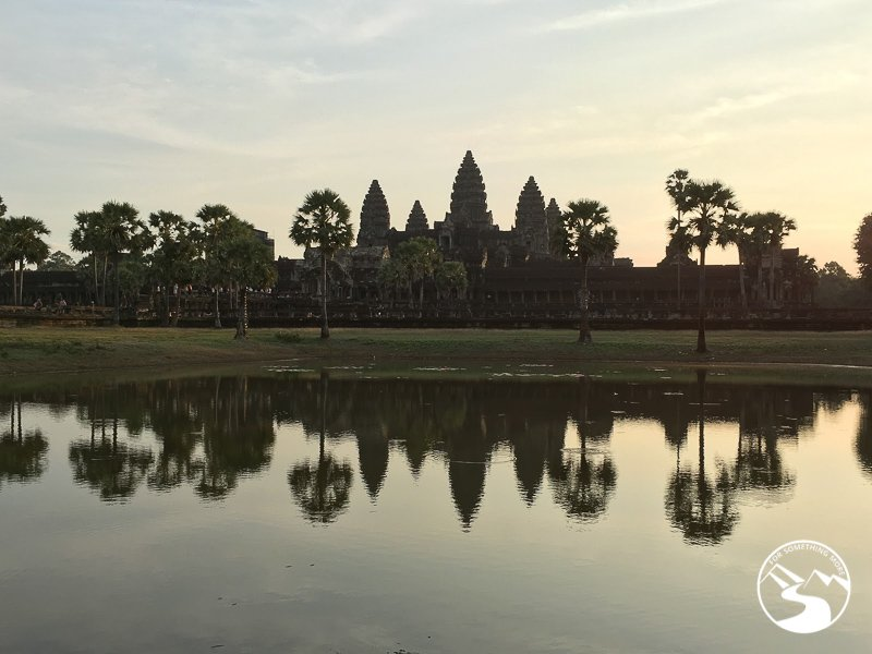 Angkor Wat is a place you can visit while biking in Siem Reap