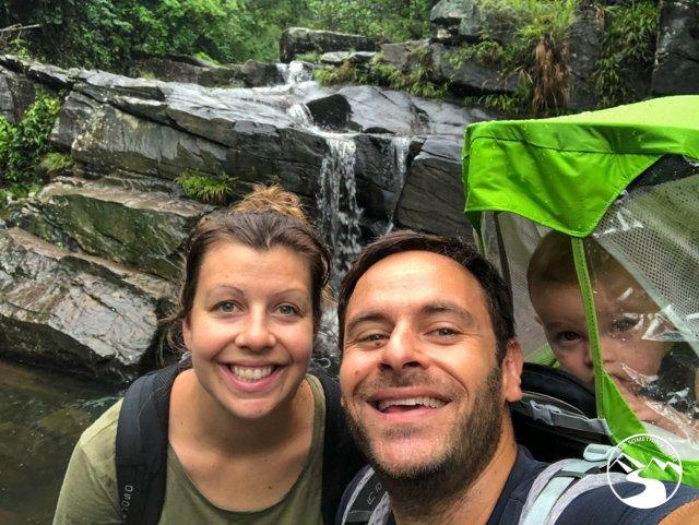 family photo near Bride's Pool Waterfall